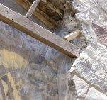 Mintzberg - Étape enlèvement pierre Arche porte entrée - 2004